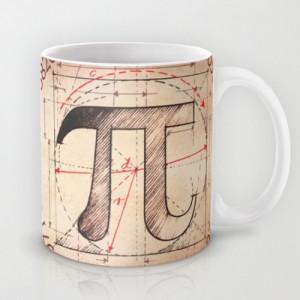 Подарок Оригинальная чашка 'Pi Symbol Sketch'