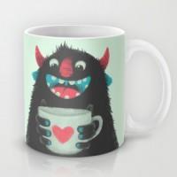 Подарок Оригинальная чашка 'Демон с чашкой кофе'