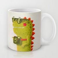 Подарок Оригинальная чашка 'Дракон с фотоаппаратом'