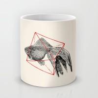 Подарок Оригинальная чашка 'Fish In Geometrics'