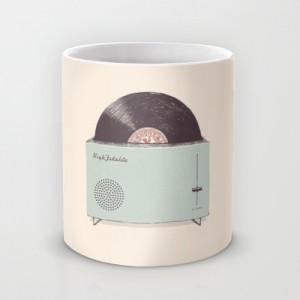 Подарок Оригинальная чашка 'Тостер с пластинкой'