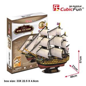 Трехмерная головоломка-конструктор CubicFun 'HMS VICTORY'