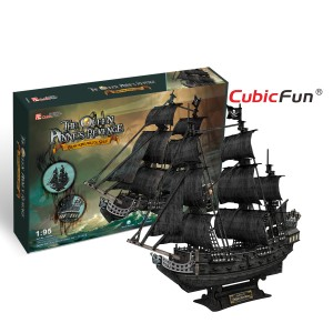 Трехмерная головоломка-конструктор CubicFun 'Корабль Черной Бороды 'Месть королевы Анны' (большой)'