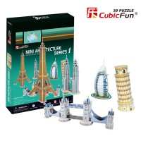 Трехмерная головоломка-конструктор CubicFun 'Архитектура мира'