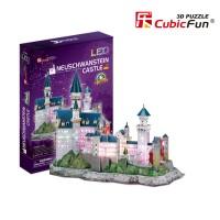 Трехмерная головоломка-конструктор CubicFun 'Замок Нойшванштайн LED'
