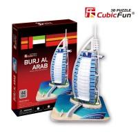 Трехмерная головоломка-конструктор CubicFun 'Бурдж-Аль-Араб'