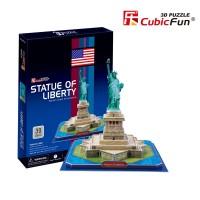 Трехмерная головоломка-конструктор CubicFun 'Статуя Свободы'