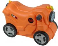 Чемодан-каталка 'Мотоцикл' оранжевый