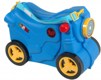 Чемодан-каталка 'Мотоцикл' синий