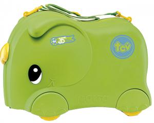 Чемодан-каталка 'Слоник' зеленый
