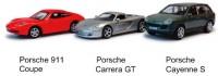 Набор автомоделей Porsche '911 Coupe + Carrera GT + Cayenne S'