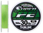 Шнур Sunline New Super PE 150м (салат) #30/0285мм 30LB/15кг