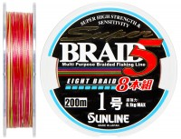 Шнур Sunline Super Braid 5 (8 Braid) 200m #10/0165мм 61кг