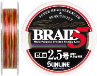 Шнур Sunline Super Braid 5 150m #25/025мм 14кг