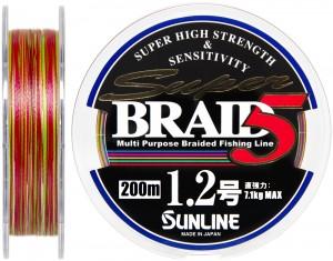 Шнур Sunline Super Braid 5 200m #12/0185мм 71кг
