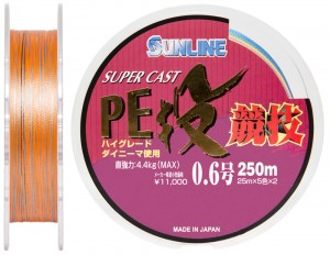 Шнур Sunline S-Cast PE Nagi Kyogi 250м #06/0128мм 44кг
