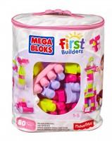 Конструктор розовый Mega Bloks 80 деталей в мешке