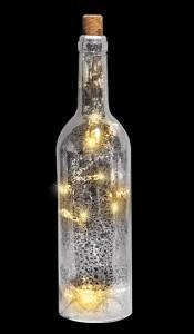 Подарок Украшение декоративное 'Бутылка серебристая'