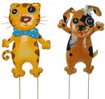 Подарок Набор декора для сада 'Кот и Пес'