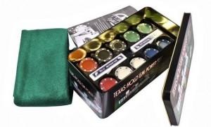 фото Набор для покера в  оловянном кейсе (200  фишек, 2 колоды) #4