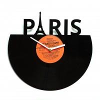Подарок Настенные часы из винила Париж