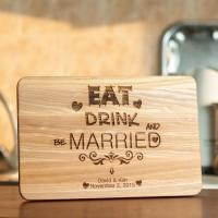 Подарок Разделочная доска Eat. Drink. Married