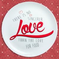 Подарок Тарелка 'Love food'