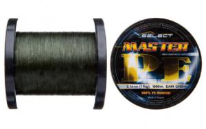 Шнур Select Master PE 1000 м (темно-зеленый) 0.08 мм 11 кг