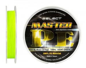 Шнур Select Master PE 150 м (салатовый) 0.16 мм 19 кг