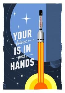 Подарок Постер 'Будущее в твоих руках'