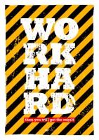 Подарок Постер 'Work Hard'