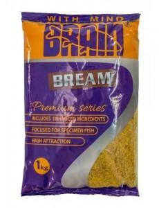Прикормка Brain PREMIUM BREAM 1 кг желтый