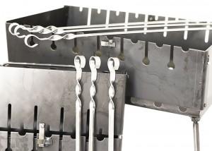 фото Мангал-чемодан на 8 шампуров #4
