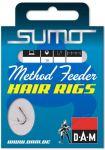 Крючок с поводком DAM Sumo Runner Hair (фидер) №12, 10 шт. (black nickel)