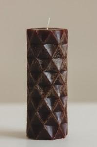 Подарок Декоративная свеча ручной работы Соты цилиндр big
