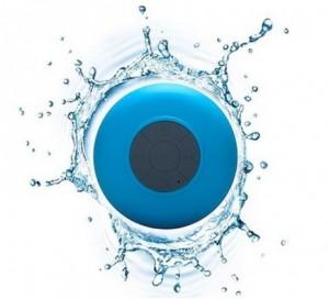 Подарок Водонепроницаемая Bluetooth колонка для душа (голубая)