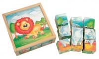 Деревянные кубики Bino 'Животные'