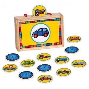 Деревянный игровой набор Bino 'Найди пару. Транспорт'