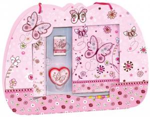 Подарочный набор Bino 'Бабочка. Дневник и письменные принадлежности'