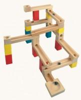 Деревянная развивающая игра Bino 'Строительная дорога для шариков'