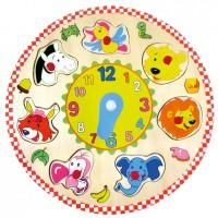Часы-пазл Bino с животными
