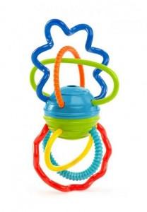 Погремушка-прорезыватель Oball 'Цветные спиральки'