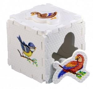 Кубик EVA - сортер. Птицы