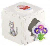 Кубик EVA - сортер. Для девочек