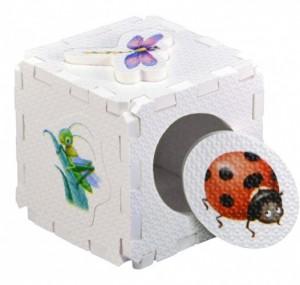 Кубик EVA - сортер. Насекомые