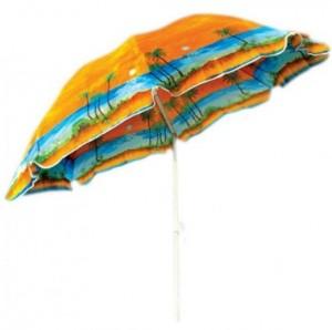 фото Комплект: Зонт пляжный желтый 1.8 м с наклоном, Anti-UV, и Винт крепежный SS-Z-1 #6