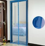 Подарок Дверная антимоскитная сетка на магнитах синяя