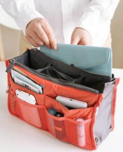 Подарок Органайзер в сумку Bag in Bag оранжевый