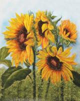 Подарок Картина на холсте по номерам Pasportu 'Цветы Солнца' (57-5412555)