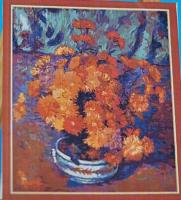 Подарок Картина на холсте по номерам Pasportu 'Хризантемы' (57-5412560)